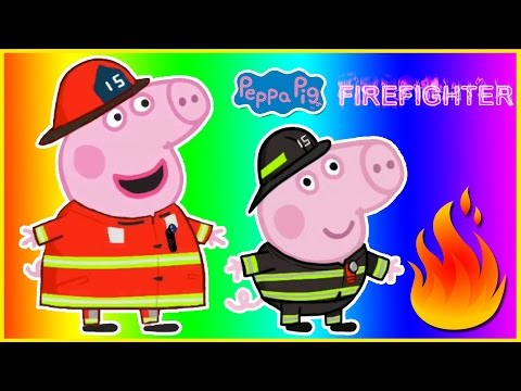 Peppa Pig Firefighter Finger Family Peppa Pig Magic Costume Party